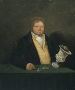 Thomas Pardoe - self portrait with vase