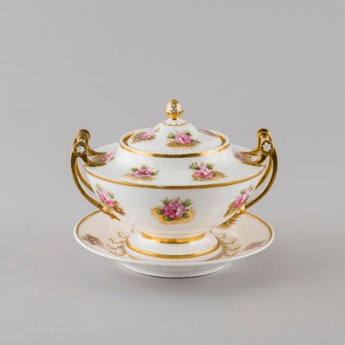 cream tureen, cover & stand, 1818-1822