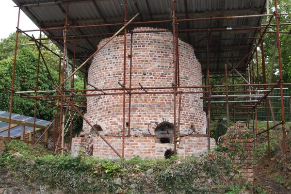 Restoration work being carried out on the second Kiln at the chinaworks